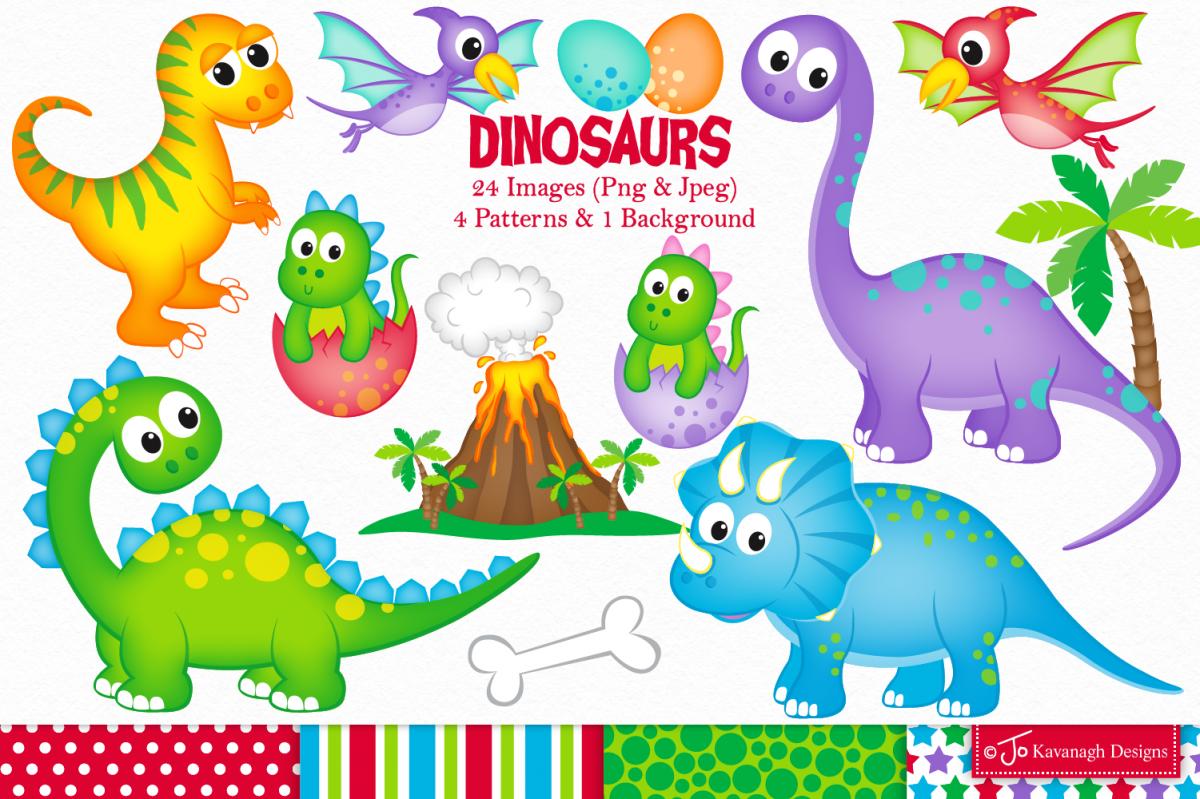 Dinosaur clipart, Dinosaurs graphics & Illustrations, T.