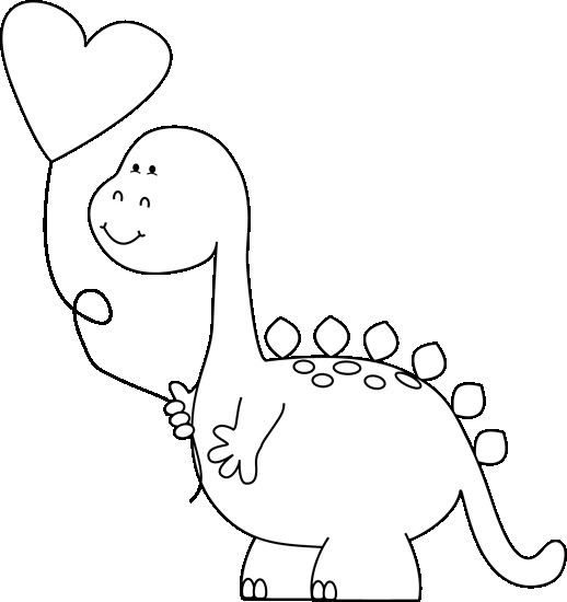 Or Dinosaur Clipart Black And White.