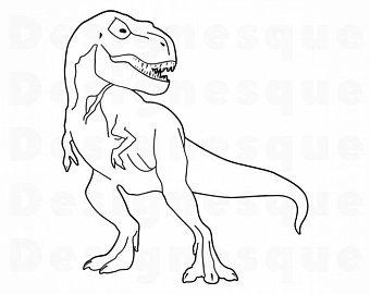 Dinosaur outline.