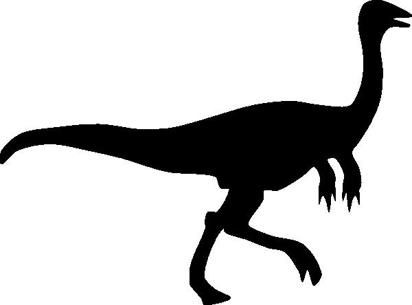 Gallimimus Silhouette Clip Art at Clker.com.