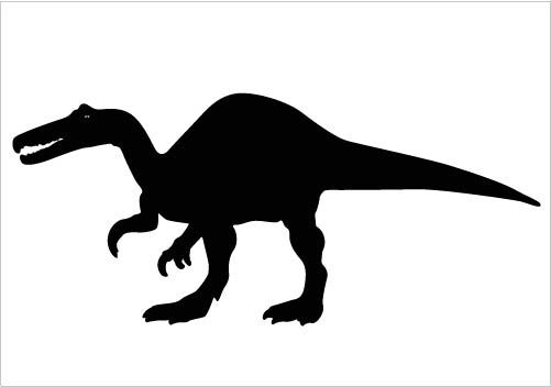 Dinosaurs Silhouette Vector Clipart Perfect for Download.