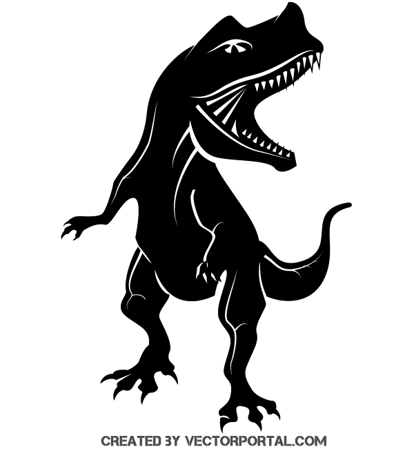 Free Dinosaur Silhouette Vector Clipart.