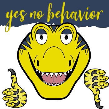 How Do Dinosaurs Go to School Behavior Clip Art.