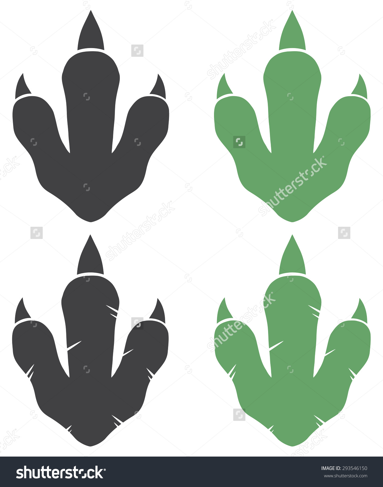 Jurassic world dinosaurs footprint clipart.
