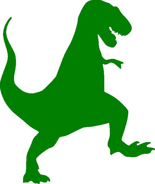 dinosaur clipart silhouette #18