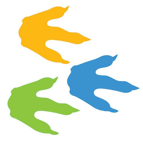 Dinosaur footprint clipart #11