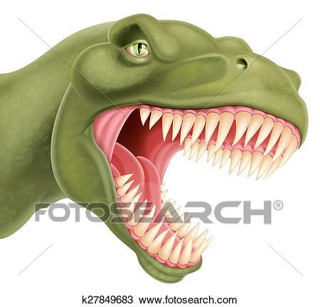 T Rex Dinosaur Head Clipart.