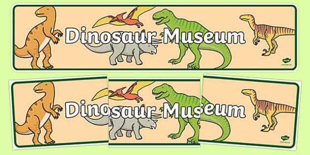 Dinosaur Museum Display Banner.