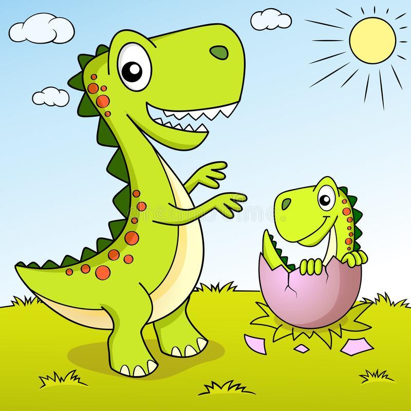 Dinosaur Nest Stock Illustrations.