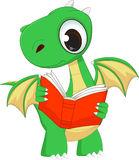 Dinosaur Reading Book Stock Illustrations.
