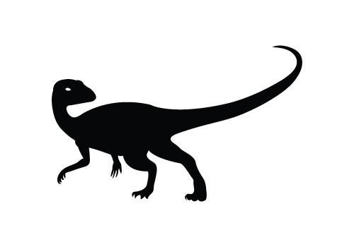 Free Dinosaur Silhouette Vector.