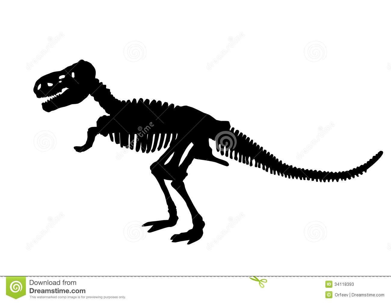 Dinosaur Skeleton Clipart.