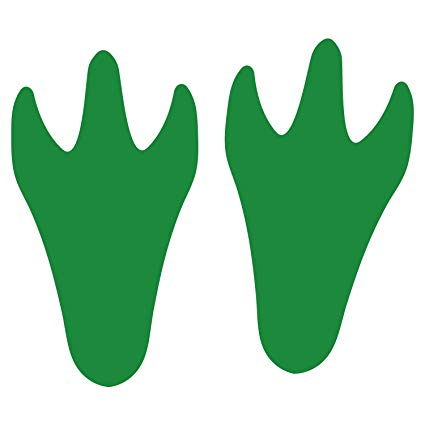 LiteMark Green Durable Dinosaur Track Decal Stickers Floor.