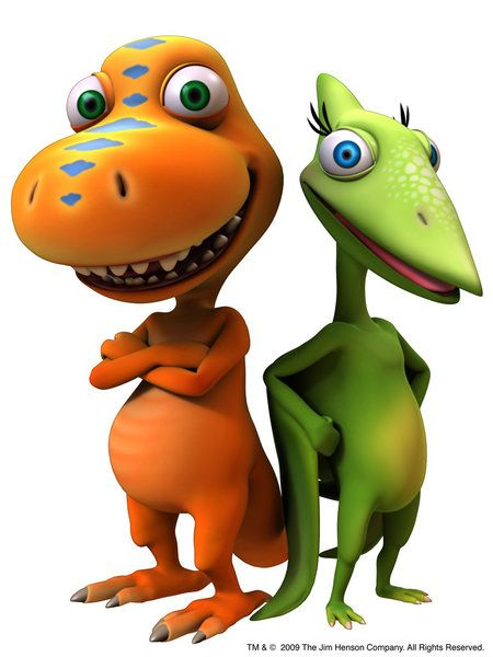 Buddy and Tiny from Dinosaur Train :) Drawing them for Jess&.