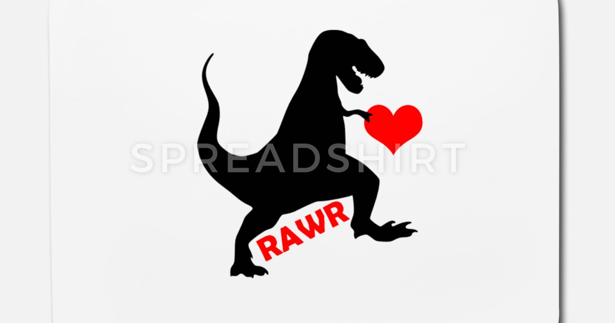 Valentine, Dinosaur Valentines Day Mouse Pad.