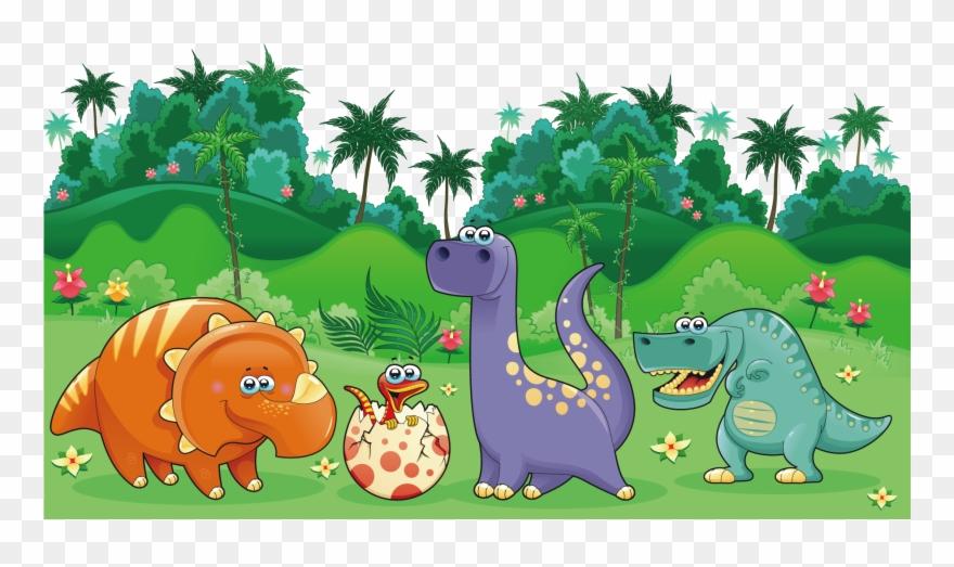 Clipart Dinosaur Landscape.
