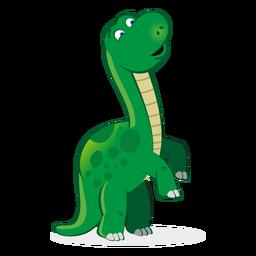 Dibujos animados lindo personaje de dinosaurio.