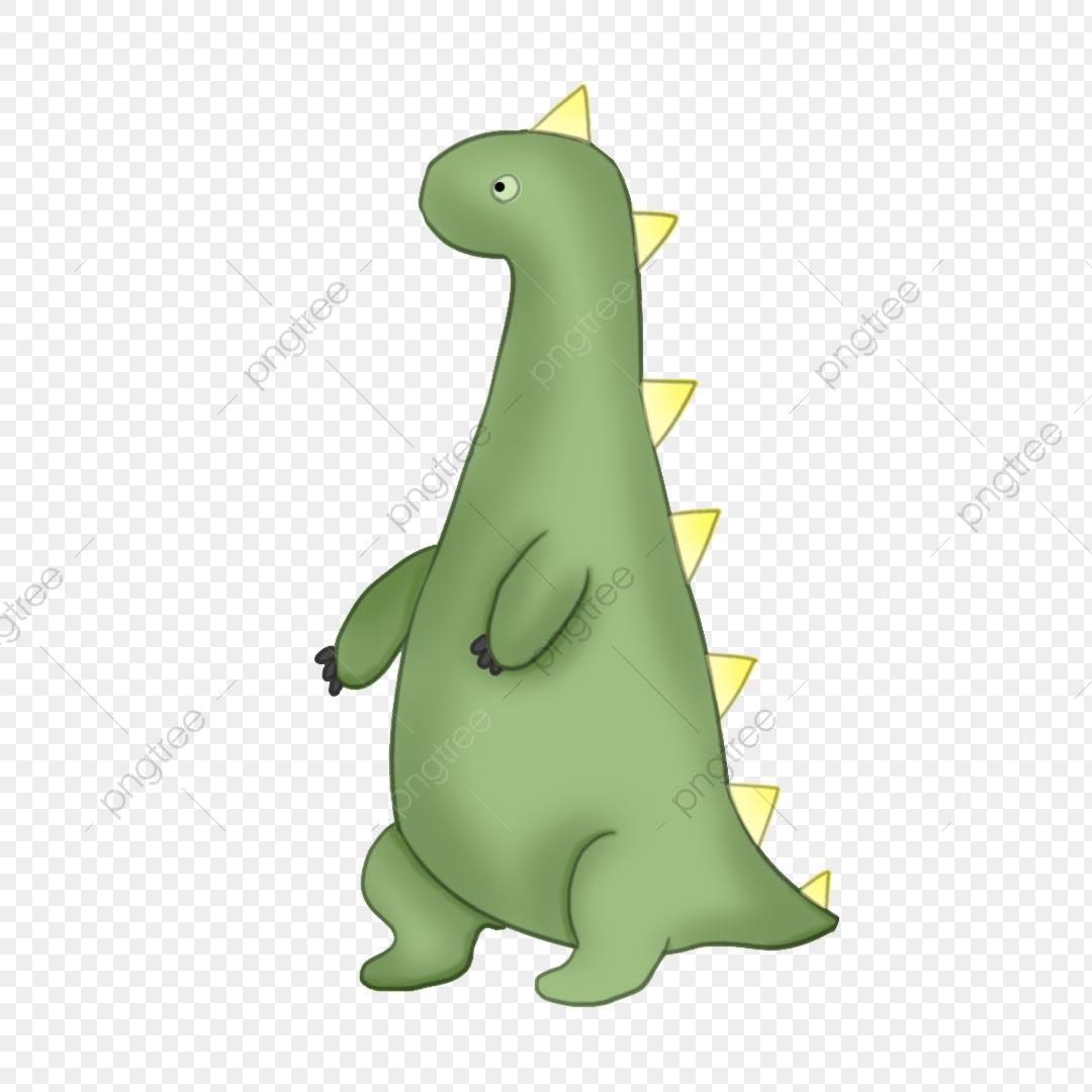 Dinosaurio Verde Dinosaurio Lindo Ilustración De Dibujos Animados De.