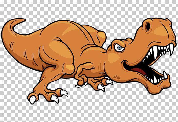 Ilustración de dibujos animados de dinosaurio tiranosaurio.