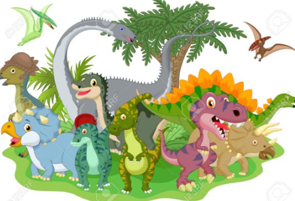 Dinosaurios Animados Png Vector, Clipart, PSD.