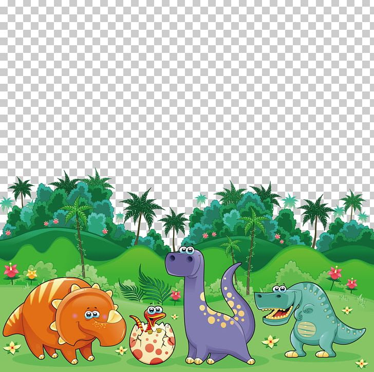 Triceratops Dinosaur Cartoon Illustration PNG, Clipart, Animal.