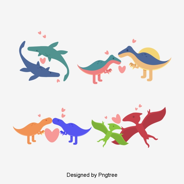 Cartoon Dinosaur PNG Images.