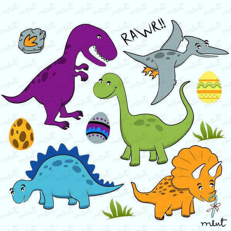 Dinosaur Digital clip art set.