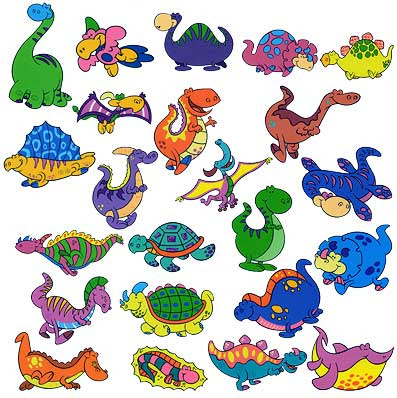 Clipart of dinosaurs.