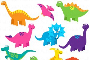 Dinosaurs clipart Photos, Graphics, Fonts, Themes, Templates.