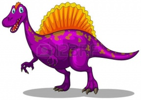 Dinosaurs Solid Color Clipart.