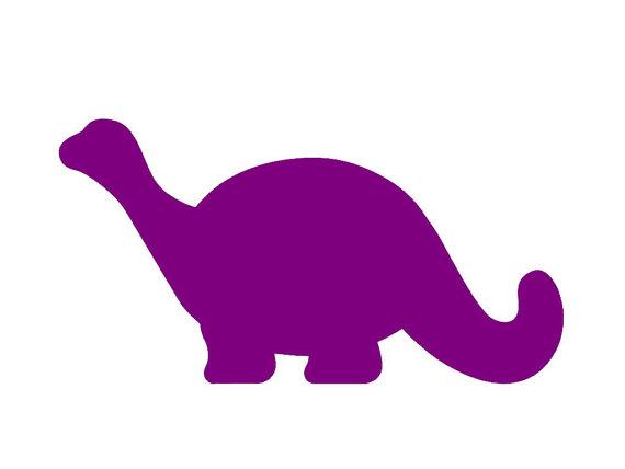 Cute Brontosaurus Dinosaur Silhouette Custom Die Cut Vinyl.