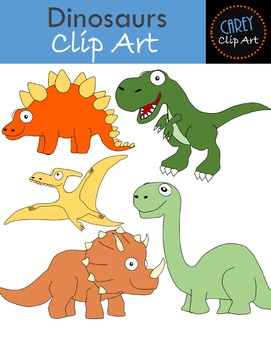 Dinosaurs {Clip Art + Board Game}.