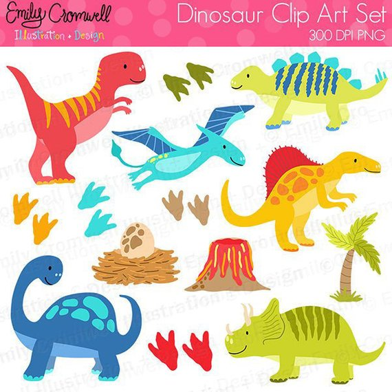 Dinosaur Digital Clipart, T.