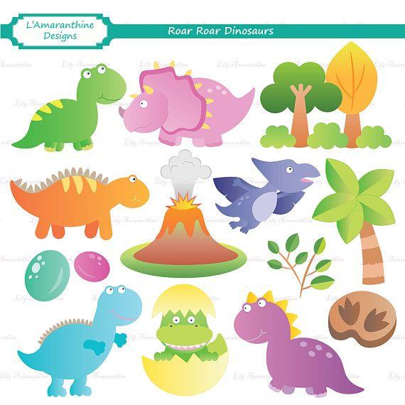 Roar Roar Dinosaurs, Dinosaur, Volcano, Triceratops, T.
