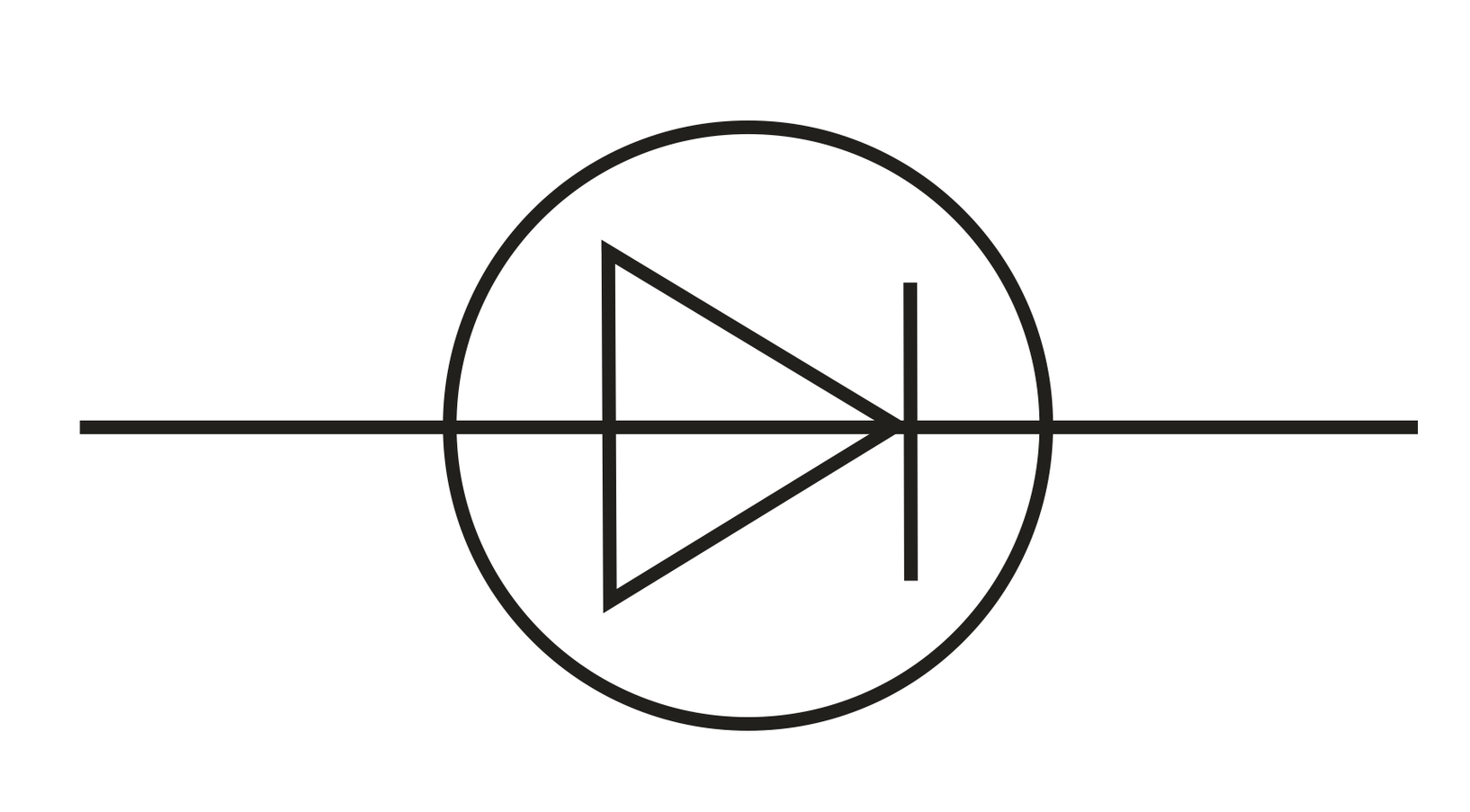 Electronic Symbol For Diode Clipart.