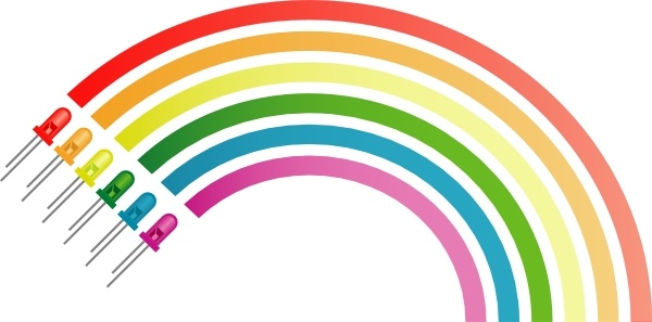 Rainbow From Light Emitting Diodes clip art Free vector in Open.