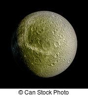 Stock Illustration of Iapetus isolated planet.