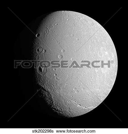 Stock Images of Saturn's moon Dione stk202298s.