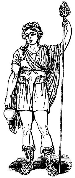 Dionysus clipart.