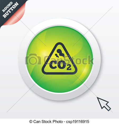 Vector Clip Art of CO2 carbon dioxide formula sign icon. Chemistry.