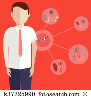 Diphtheria Clipart Illustrations. 9 diphtheria clip art vector EPS.