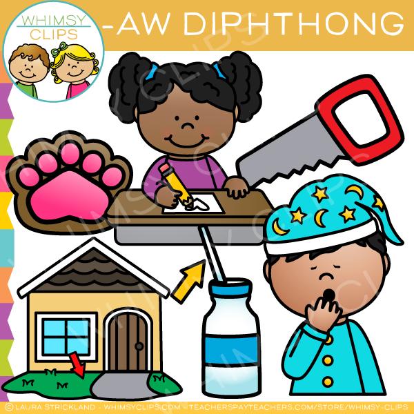 AW Diphthong Clip Art.