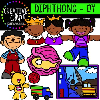 Diphthong Clipart: OY {Creative Clips Digital Clipart}.