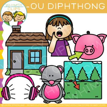 Diphthong Clip Art: OU Word Family Clip Art.