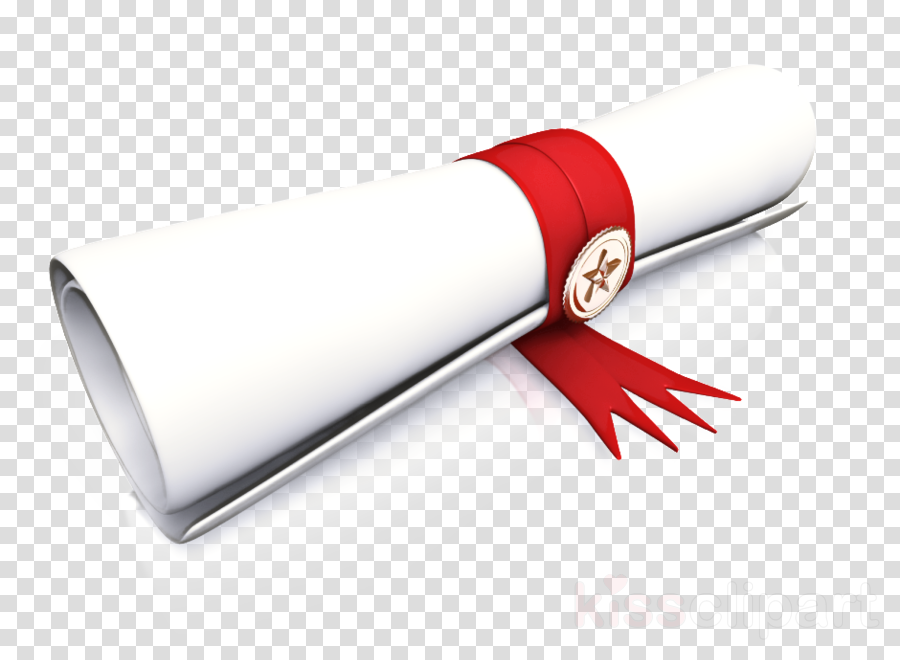 red material property diploma scroll clipart.