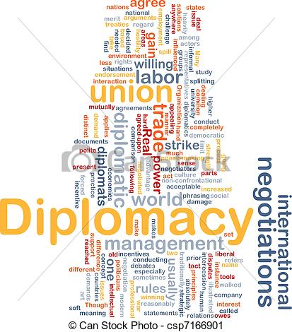 Clipart of Diplomacy background concept.