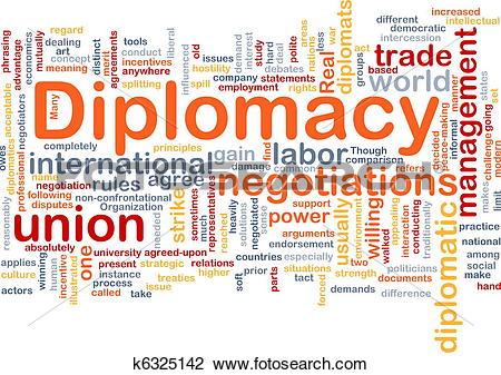 Clip Art of Diplomacy background concept k6325142.