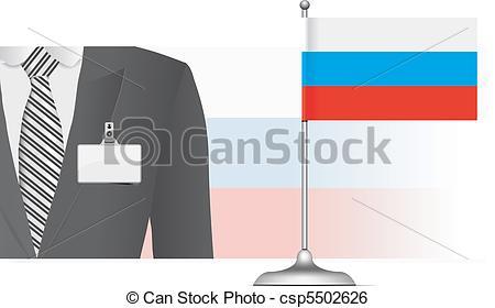 Clip Art Vector of Russian Diplomat.