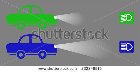 Headlights beams background clipart.