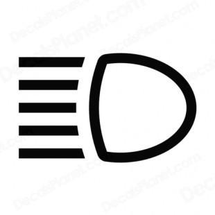 Headlights symbol.